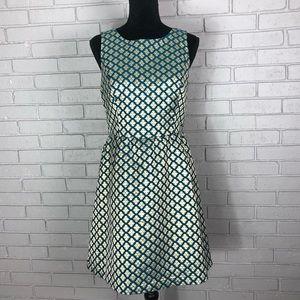 Kensie Lurex Geo Flowers Sleeveless Dress